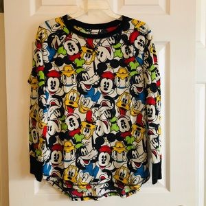 Disney Characters Long Sleeve Thermal Knit Top